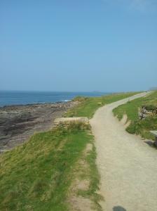 Walking along the shore line