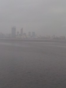 Perth City looking a bit wet!